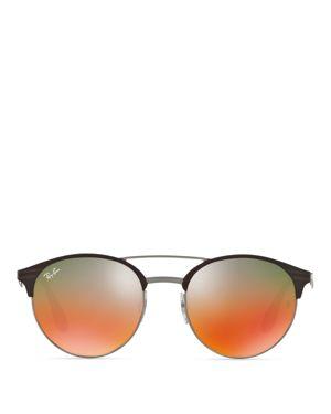 Ray-Ban Highstreet Phantos Mirrored Sunglasses, 54mm