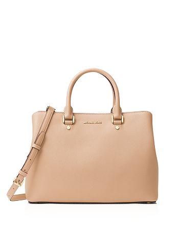 01c661e5d612f2 Handbags. > MICHAEL Michael Kors - Savannah Large Saffiano Leather Satchel