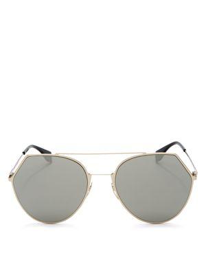 Fendi Mirrored Round Aviator Sunglasses, 55mm