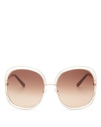 $Chloé Women's Carlina Square Oversized Sunglasses, 62mm - Bloomingdale's