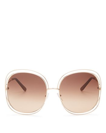 Chloé - Women's Carlina Square Oversized Sunglasses, 62mm