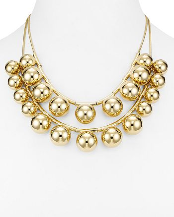 """kate spade new york - Two Strand Convertible Bubble Bead Necklace, 20"""""""