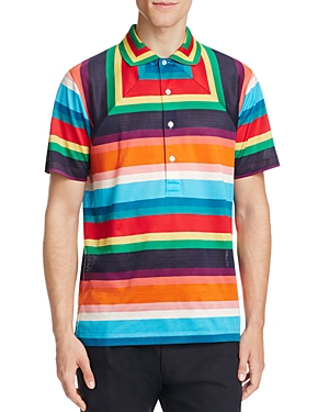 Paul Smith Colorful Stripe Slim Fit Polo