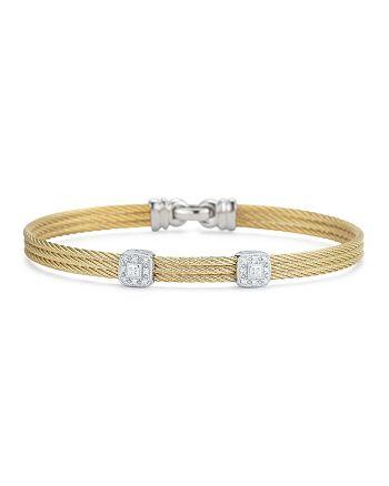 ALOR - Diamond Yellow Cable Bangle