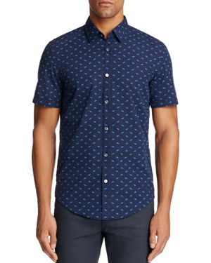 Boss Ronn Diamond Print Slim Fit Button-Down Shirt