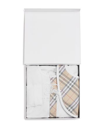 Burberry - Unisex Coverall & Bib Boxed Set - Baby