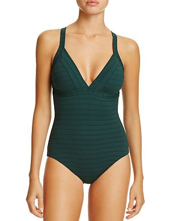 Amoressa - Vanya Ribbed Empire Maillot One Piece Swimsuit