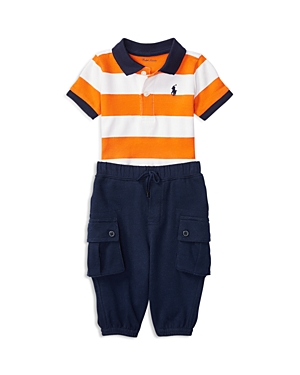 Ralph Lauren Childrenswear Infant Boys Atlantic Polo  Pants Set  Sizes 324 Months