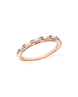 Diamond Baguette Stacking Band in 14K Rose Gold, .25 ct. t.w. - 100% Exclusive