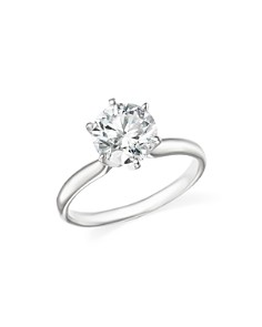Bloomingdale's - Certified Diamond Round Brilliant Cut Solitaire Ring in 18K White Gold, 1.20 ct. t.w.- 100% Exclusive