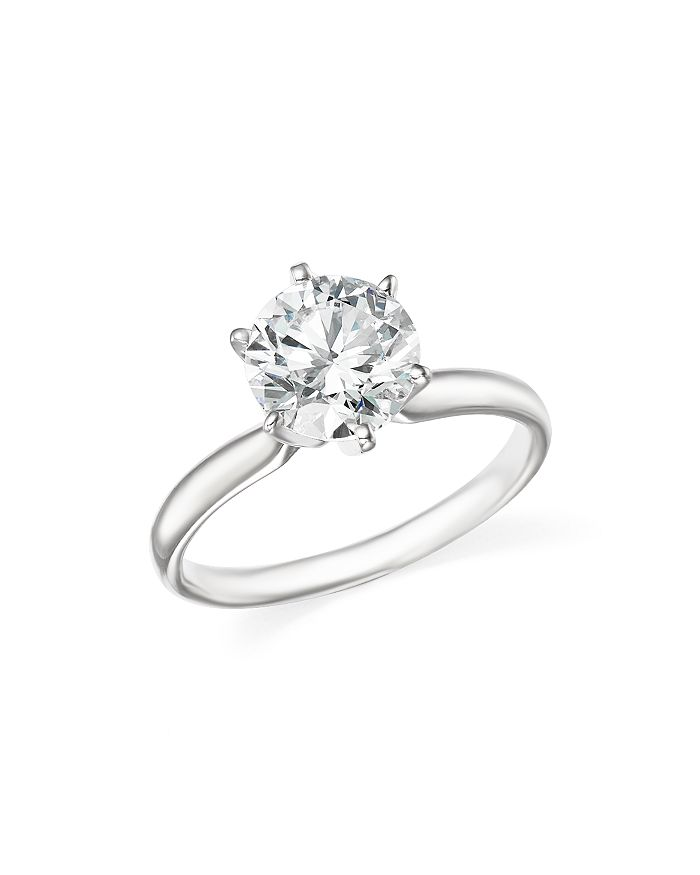 Bloomingdale's CERTIFIED DIAMOND ROUND BRILLIANT CUT SOLITAIRE RING IN 18K WHITE GOLD, 2.0 CT. T.W. - 100% EXCLUSIV