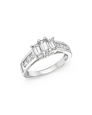 Click here for Diamond Three Stone Emerald and Princess Cut Ring... prices
