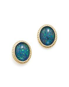 Bloomingdale's - Opal Triplet Bezel Stud Earrings in 14K Yellow Gold- 100% Exclusive