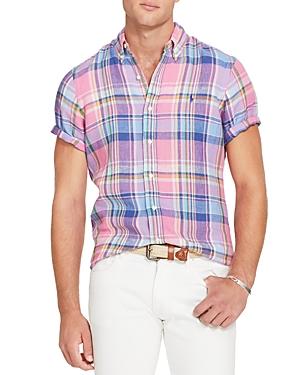 Polo Ralph Lauren Plaid Linen Classic Fit Button-Down Sport Shirt