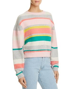 Rebecca Taylor Striped Cropped Sweater