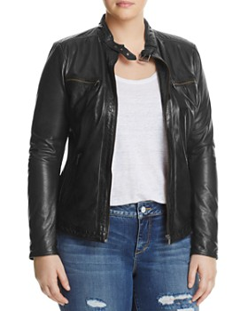 SLINK Jeans Plus - Leather Moto Jacket