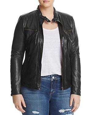 Slink Jeans Leather Moto Jacket