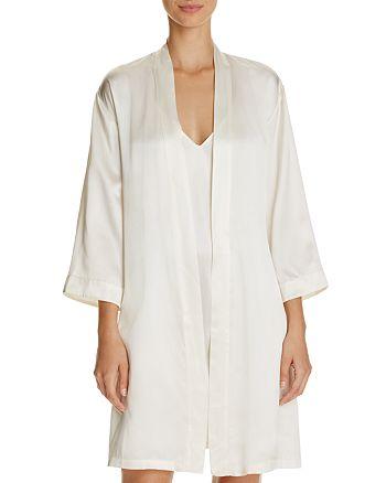 GINIA - Silk Wrap Robe & Strappy Silk Chemise