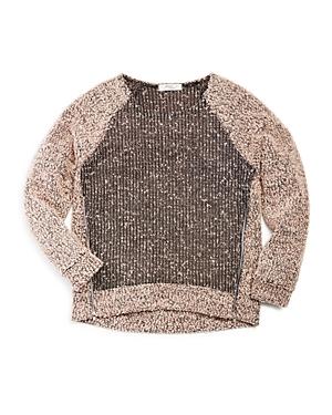 Pinc Premium Girls Double Zip Sweater  Big Kid