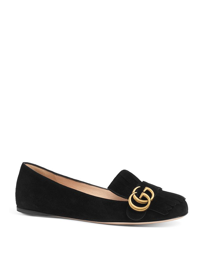 f455975233b4 Gucci - Women s Marmont Suede Flats