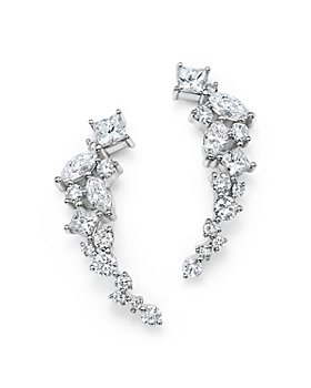 Bloomingdale's - Diamond Fancy Cut Ear Climbers in 14K White Gold, 1.0 ct. t.w. - 100% Exclusive