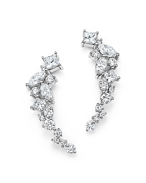 Diamond Fancy Cut Ear Climbers in 14K White Gold, 1.0 ct. t.w. - 100% Exclusive-Jewelry & Accessories