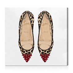Oliver Gal - Studded Leopard Heels Wall Art
