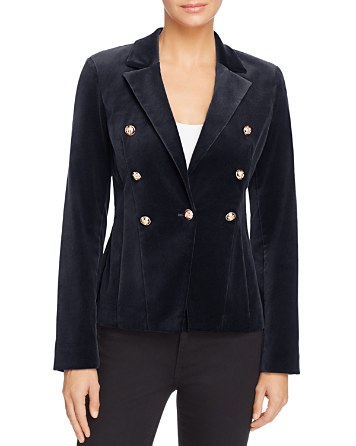 $AQUA Velvet Gold Button Blazer - 100% Exclusive - Bloomingdale's