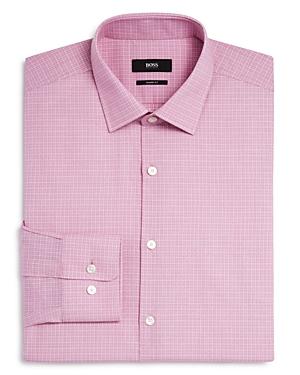 Boss Marley Micro Cross Stitch Check Sharp Fit Dress Shirt