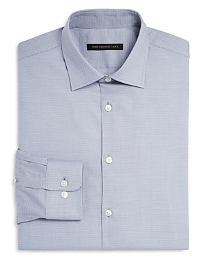 John Varvatos Star Usa Micro Houndstooth Regular Fit Dress Shirt
