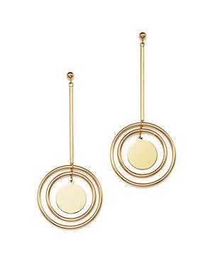 14K Yellow Gold Dangle Disc Drop Earrings - 100% Exclusive