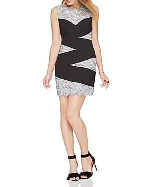 Bcbgmaxazria Banded Lace Dress