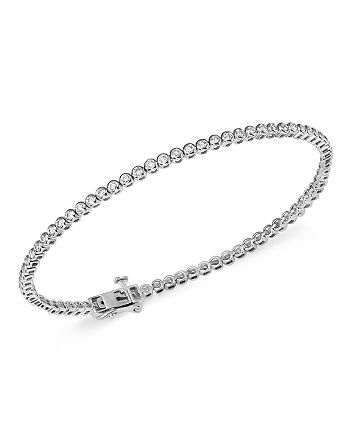 Bloomingdale's - Diamond Bezel Tennis Bracelet in 14K White Gold, 1.0 ct. t.w.- 100% Exclusive