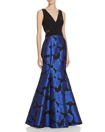 Avery G - Jacquard-Skirt Gown