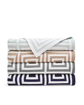 Hudson Park Collection - Geo Knit Throw - 100% Exclusive
