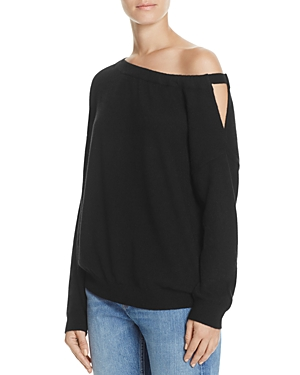 Vince Off-Shoulder Cashmere Tunic