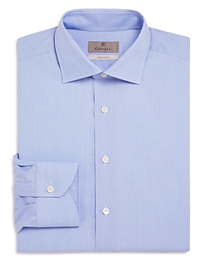 Canali Impeccabile Solid Regular Fit Dress Shirt - 100% Exclusive