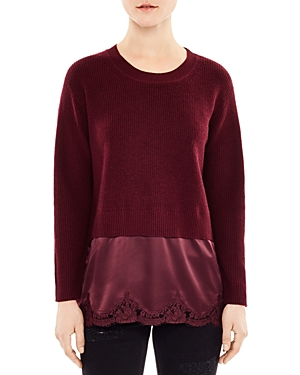Sandro Aiela Silk-Trimmed Layered-Look Sweater