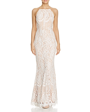 Jarlo Lace Fit-and-Flare Gown