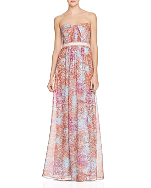 Bcbgmaxazria Strapless Floral Gown - 100% Exclusive