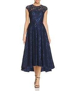 Carmen Marc Valvo - Embellished Lace High Low Dress