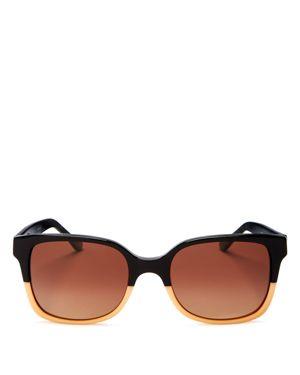 Tory Burch Polarized Square Sunglasses, 55mm