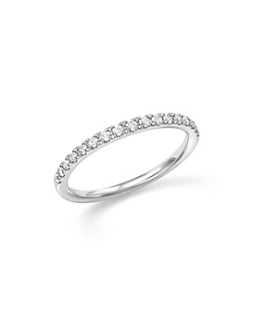 Bloomingdale's - Diamond Micro-Pave Stack Ring in 14K White Gold, .25 ct. t.w. - 100% Exclusive