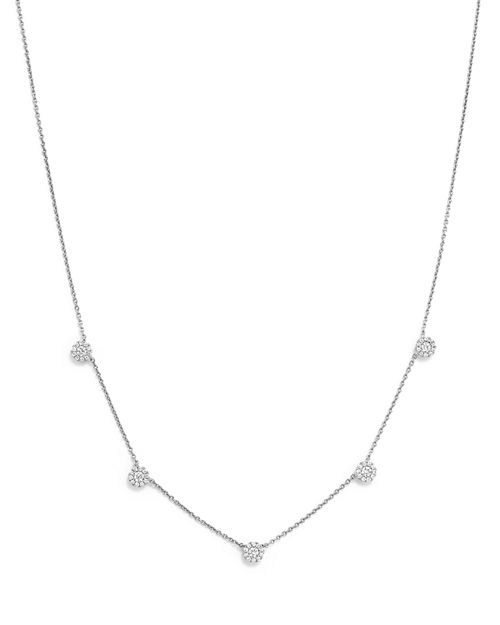Bloomingdale's - Diamond Micro Pavé Necklace in 14K White Gold, .50 ct. t.w. - 100% Exclusive