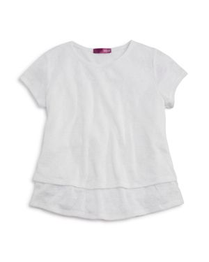 Aqua Girls' Layered Knit Top, Big Kid - 100% Exclusive