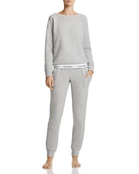 Calvin Klein - Modern Cotton Crewneck Lounge Sweatshirt & Jogger Pants