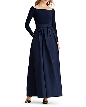 Lauren Ralph Lauren Petites Mixed Media Gown