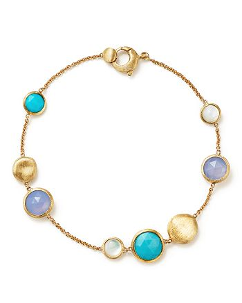 Marco Bicego - 18K Yellow Gold Jaipur Bracelet with Turquoise, Mother-Of-Pearl and Chalcedony - 100% Exclusive