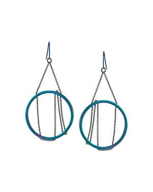 Trina Turk Gypsy Chain & Circle Drop Earrings