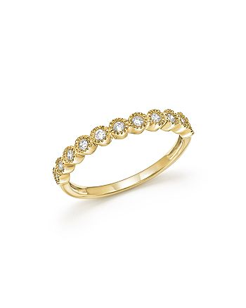 Bloomingdale's - Diamond Milgrain Bezel Stacking Band in 14K Yellow Gold, .25 ct. t.w. - 100% Exclusive